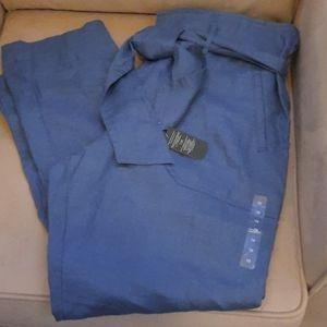Lauren Ralph Lauren Belted Linen Pants NWT size 10